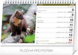 Stolový Poľovnícky kalendár SK 2020, 23,1 x 14,5 cm