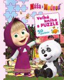 Máša a medveď - Veľká kniha s puzzle 50 dielikov
