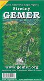 Stredný Gemer - ručne maľovaná mapa