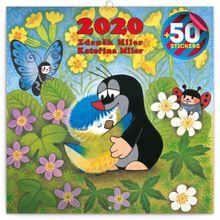 Poznámkový kalendár Krtko 2020, s 50 samolepkami, 30 x 30 cm