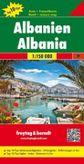 Albánsko, Albanie, Albania automapa 1: 150 000