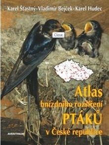 Atlas hnízdního rozšíření ptáků v ČR + Ptačí oblasti v ČR