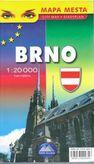 Brno mapa mesta 1 : 20 000