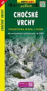 Chočské vrchy turistická mapa 1: 50 000