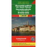 Chorvatské pobrežie automapa 1 : 200 000