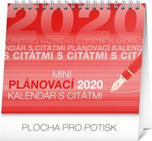 Stolový kalendár Plánovací s citátmi SK 2020, 16,5 x 13 cm