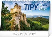 Stolový kalendár Tipy na výlety SK 2020, 23,1 x 14,5 cm