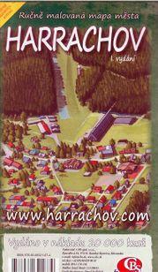 Harachov - ručne maľovaná mapa