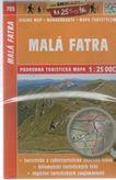 Malá Fatra 705 podrobná turistická mapa