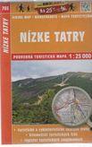 Nízke Tatry 703 podrobná turistická mapa