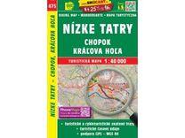 Nízké Tatry - Chopok, Kráľova Hoľa 1:40.000 Turistická mapa