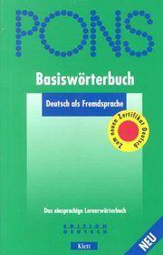 Pons Basisworterbuch Deutsch Als Fremdsprache