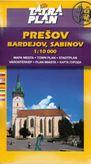 Prešov, Bardejov, Sabinov 1 : 10 000 mapa mesta