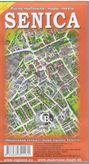 Senica - ručne maľovaná mapa