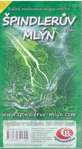 Špindlerův mlýn - ručne malovaná mapa