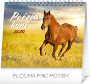 Mini-Stolový kalendár Poézia koní SK 2020, 16,5 x 13 cm