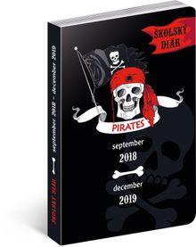 Školský diár Piráti SK (september 2018 – december 2019), 9,8 x 14,5 cm