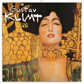 Nástenný mini poznámkový kalendár Gustav Klimt mini 2020, 18 x 18 c