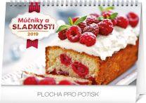 Stolový kalendár Múčniky a sladkosti SK 2019, 23,1 x 14,5 cm