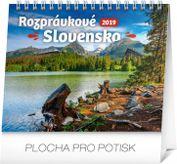 Stolový kalendár Rozprávkové Slovensko SK 2019, 16,5 x 13 cm