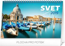 Stolový kalendár Svet SK 2019, 23,1 x 14,5 cm