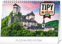 Stolový kalendár Tipy na výlety SK 2019, 23,1 x 14,5 cm