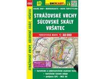 Strážovské vrchy, Suľovské skály, Vršatec 1:40.000 Turistická mapa