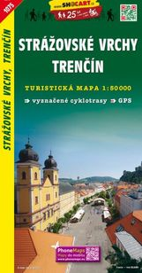 Strážovské vrchy-Trenčín turistická mapa 1:50 000