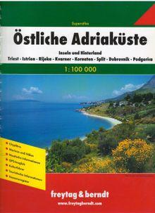 Superatlas Östliche Adriaküste : Inseln und Hinterland ; Triest, Istrien, Rijeka, Kvarner, Kornaten, Split, Dubrovnik, Podgorica 1:100.000.