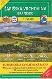 Turistická mapa 115 Šarišská vrchovina - Branisko 1 : 50 000