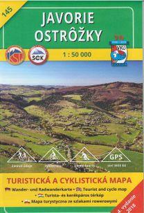 Turistická mapa 145 Javorie - Ostôžky 1 : 50 000