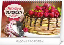 Stolový kalendár Múčniky a sladkosti SK 2020, 23,1 x 14,5 cm