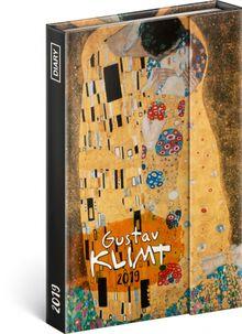 Týždenný magnetický diár Gustav Klimt 2019, 10,5 x 15,8 cm