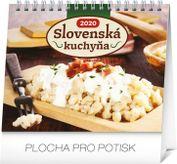 Mini-Stolový kalendár Slovenská kuchyňa SK 2020, 16,5 x 13 cm