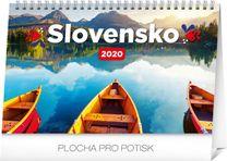 Stolový kalendár Slovensko 2020 SK, 23,1 x 14,5 cm