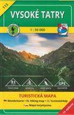 Vysoké Tatry 113 turistická mapa 1:50 000