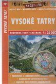 Vysoké Tatry 701 podrobná turistická mapa