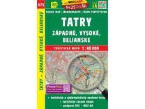 Vysoké Tatry + Západné, Belianské 1:40.000 Turistická mapa