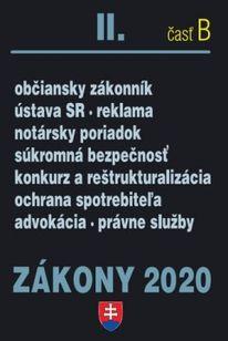 Zákony 2020 II. časť B - občianske zákony a predpisy