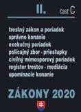 Zákony 2020 II. časť C - Trestný zákon a súdne spory