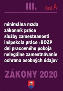 Zákony 2020 III. časť A - Mzdové zákony a predpisy