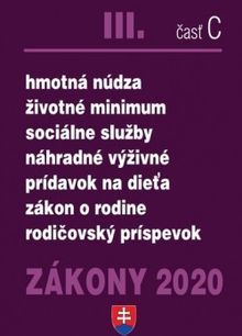 Zákony 2020 III. časť C - sociálne zákony