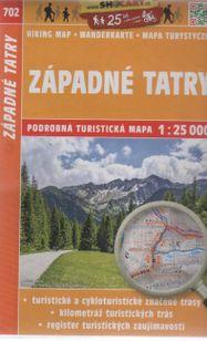 Západné Tatry 702 podrobná turistická mapa