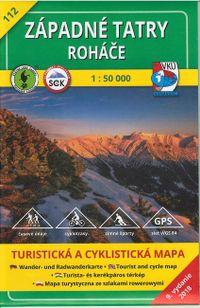 Západné Tatry - Roháče 1: 50 000 turistická a cyklistická mapa